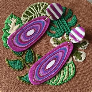 Agate Inspired Polymer Clay Earrings